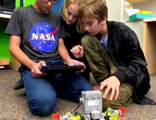 Thurston Students Program Robots