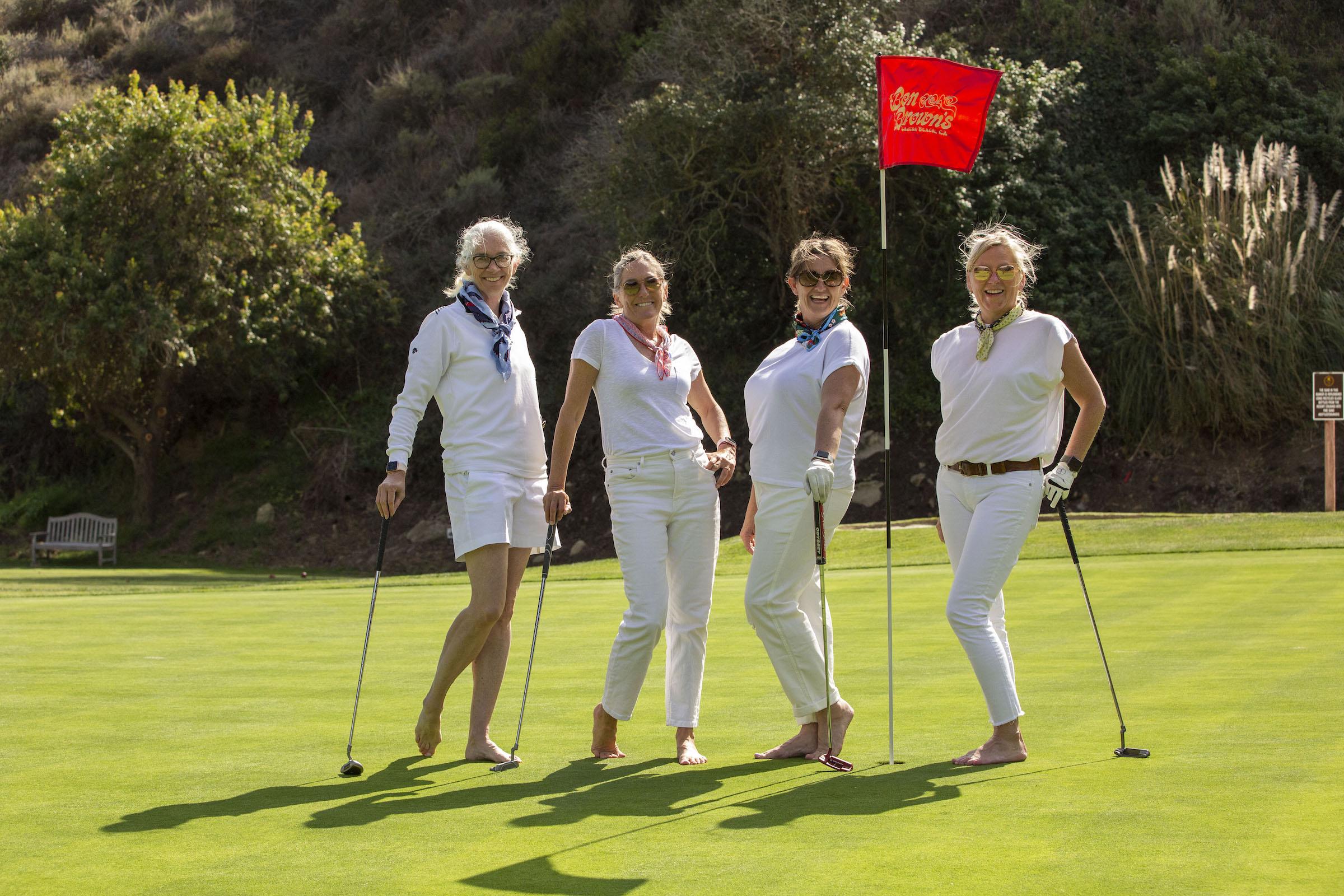 barefoot golfers